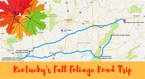 of kentucky colors best places to see fall foliage in kentucky