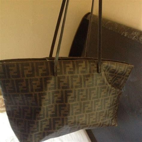 Fendi Tote 58 Fendi Handbags Fendi Zucca Roll Tote Bag From