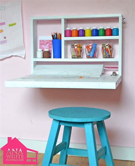 Small Kid Desk And Simple Projects For Rooms Handmade