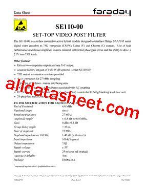 se110 00 datasheet pdf faraday technology