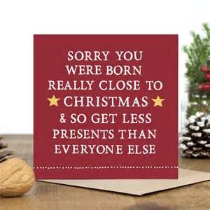 close to christmas birthday card by zoe brennan