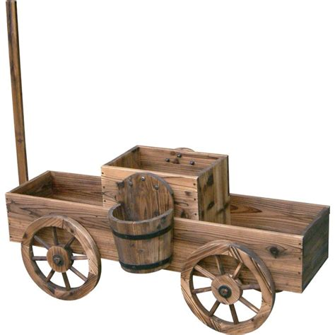 stonegate designs  tiered wooden wagon planter model