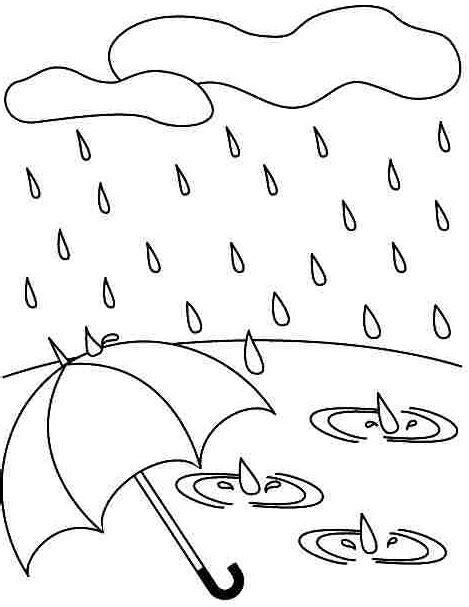 preschool rain coloring page autumn rain coloring 171 preschool and homeschool
