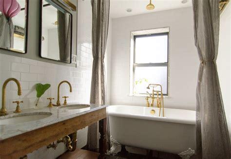 gray walls vintage bathroom benjamin metropolis indigo ochre design