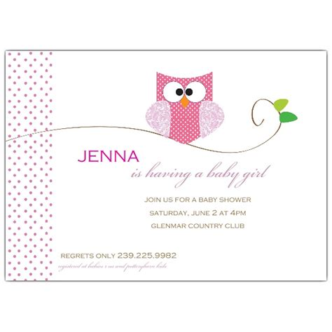 baby shower invitation wording for owl baby shower invitations paperstyle