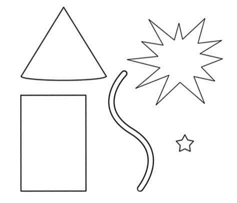 firework template paper piecing patterns free printables firework paper