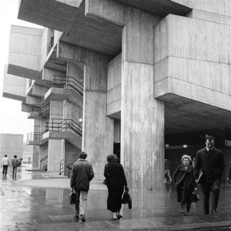 view of brunel university campus building; 1974 by henry