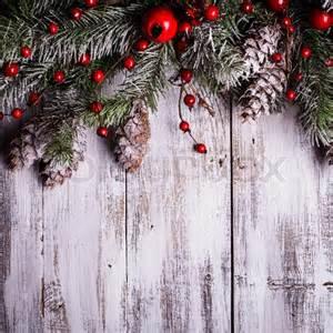 christmas border design snow covered pinecones stock photo colourbox