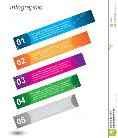 Visual Communication Design Ranking | infographic design for product ranking stock vector