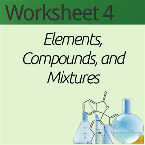 Elements Compounds And Mixtures Poem Worksheet Answers by Element Compound Mixture Worksheet Deployday