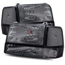 Ford Bronco Headlights 92 96 Ford Bronco Halo Led Projector Headlights Corner