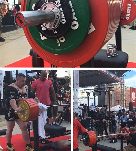 guinness world record bench press vulcan elite powerlifting bar loaded with 1104 5 lbs for