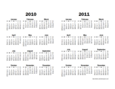 2 Year Calendar Printable Yearly Calendars Calendarsquick