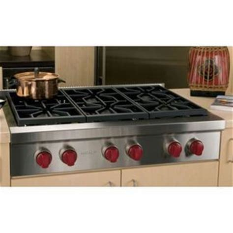 Wolf Cooktop Wolf Wsrt366lp Gas Cooktop Stainless Steel At Shop