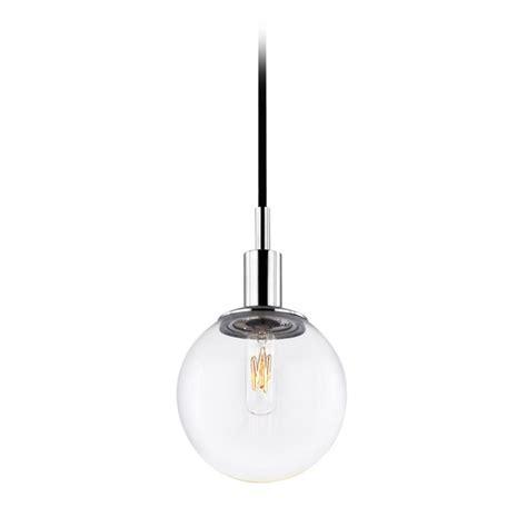 Clear Mini Pendant Lights Mid Century Modern Mini Pendant Light Chrome Clear Glass