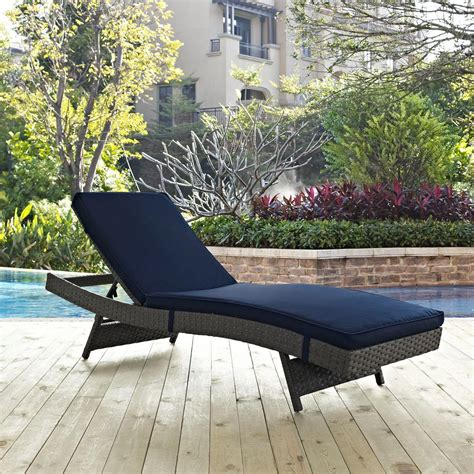 modway sojourn wicker outdoor patio chaise lounge