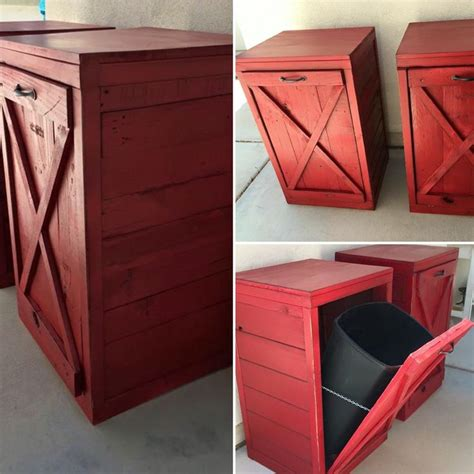 free standing trash can cabinet diy 17 best images about pallet projects on rustic