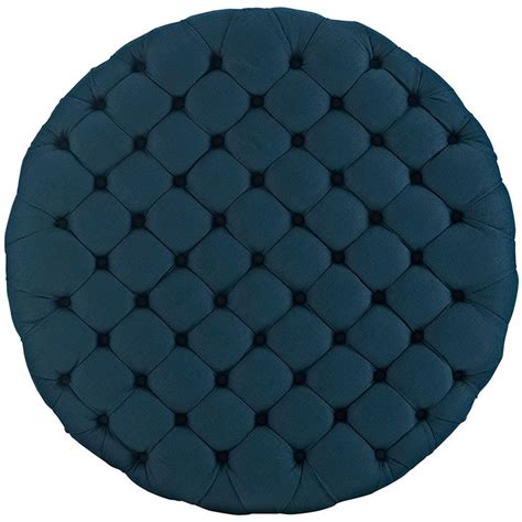 round fabric ottomans round tufted fabric ottoman modern furniture brickell