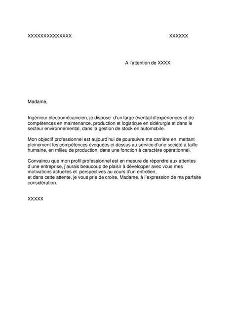 Modele De Lettre De Motivation Universelle doc lettre de motivation universelle