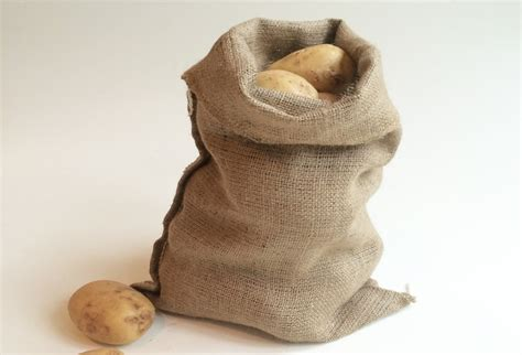 5 Hessian Sacks 30 x 45cm Jute Potato Vegetable Storage