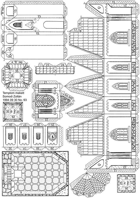 printable paper house templates 52 best somodi zolt 225 n paper models images on pinterest