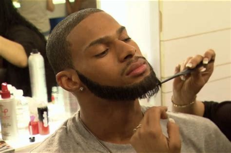 black men fake beards a new low in top model makeovers a fake beard vulture