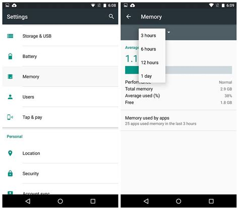 android memory management android m release date features and screenshots