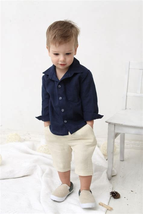 Baby Boy Dress Shirt Wedding Party 1st Birthday Baptism Long Boys Laundry