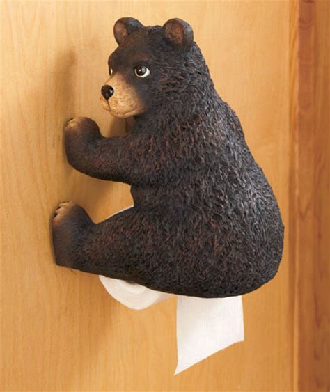 bear bathroom bear woodland booty toilet paper tissue holder funny