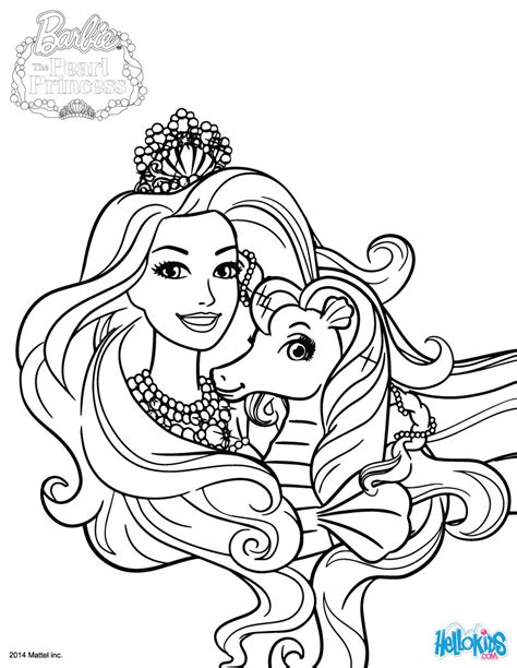 Kuda Is Lumina S Pet Coloring Pages Hellokids Com Pearl Princess Coloring Pages