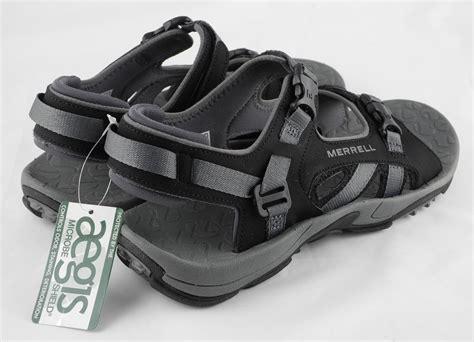 merrell hiking sandals mens merrell river bank sport trail hiking sandals black