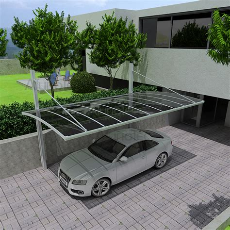 Outdoor Car Port by Outdoor Aluminum Carport With Polycarbonate Roof