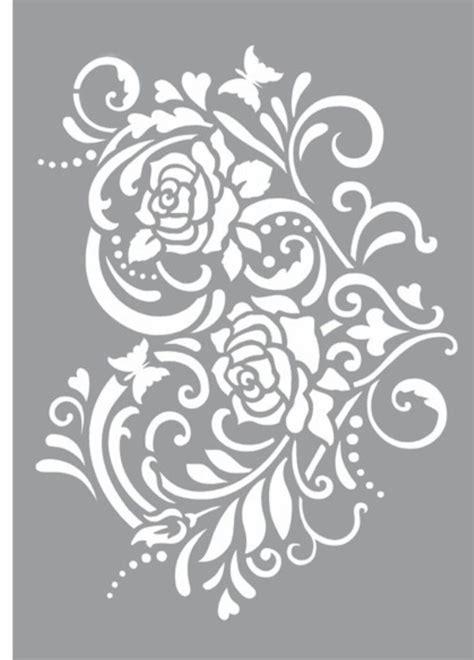 Kz08 Stencil Flower D Stensil Cetakancraft Scrapbooking mejores 288 im 225 genes de filigree en el se 241 or anillos y arabesco