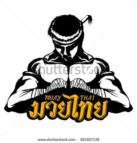 muay thai thai boxing vector logo stock vector 381957139