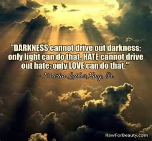 Darkness Cannot Drive Out Darkness Only Light Can Do That darkness cannot drive out darkness only light can do that
