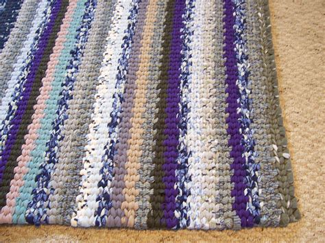 custom woven rugs custom woven area rag rug stripe traditional loom twined recycled cotton fabric by margaret