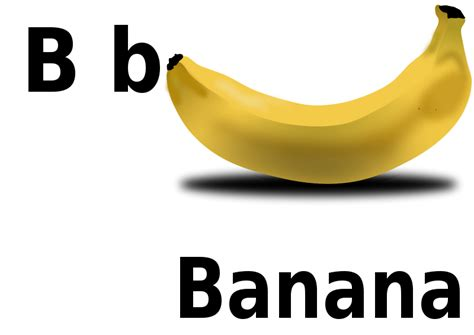 B For free clipart b for banana pranav