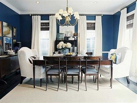 Blue Dining Room Walls by Dining Room Navy Blue Accent Wall With White Green And Salmon Pink 288 Salmon Interior