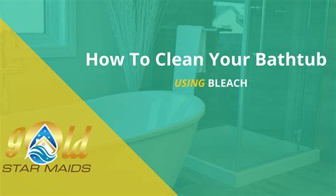 bleach to clean bathroom how to clean your bathtub with bleach gold star maids