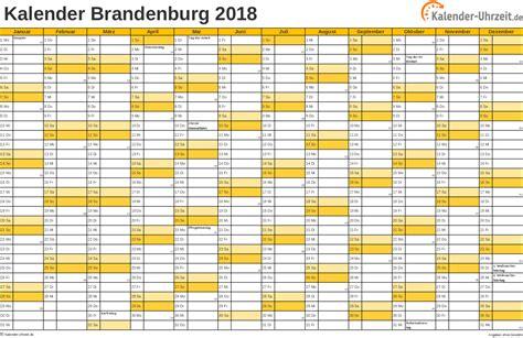 Kalender Mit Feiertagen 2018 Feiertage 2018 Brandenburg Kalender