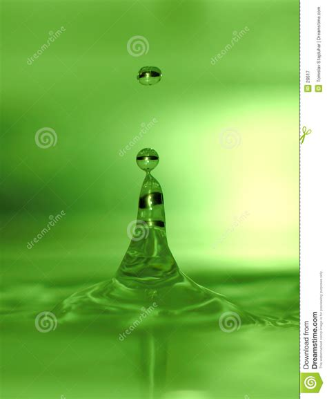 lime green water lime green water drops royalty free stock photography
