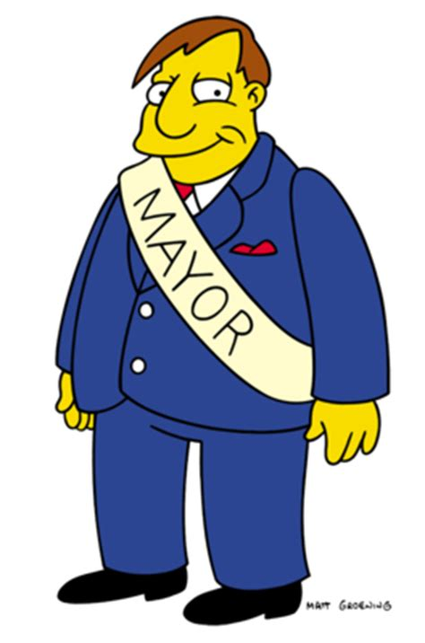 Simpsons Not A Is Creeping Out Mayer mayor quimby