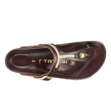 tatami birkenstock quot gizeh quot brown bronze chain leather