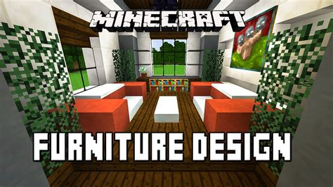 minecraft tutorial how to make living room furniture