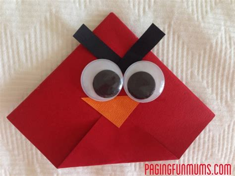 Origami For 9 Year Olds - angry birds origami bookmarks origami the o