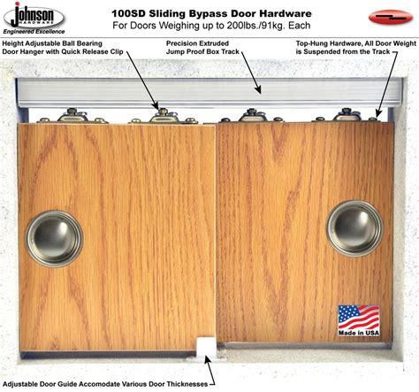 Johnson Hardware Bypass Door by Johnson Hardware 100sd Sliding Bypass Door Hardware