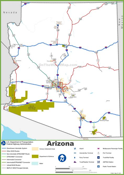 arizona highway map map of az highways pictures to pin on pinsdaddy