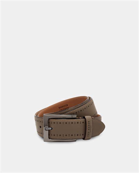 Ted Baker Belt Brogue ted baker boxwood brogue leather belt octer 163 49 00