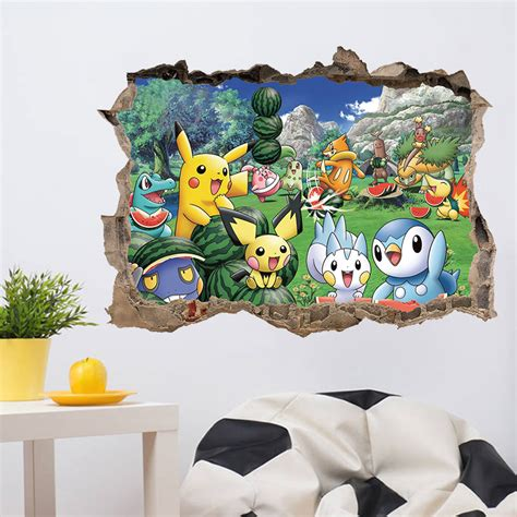 3d Wall Stickers For Kids online buy wholesale pokemon poster from china pokemon
