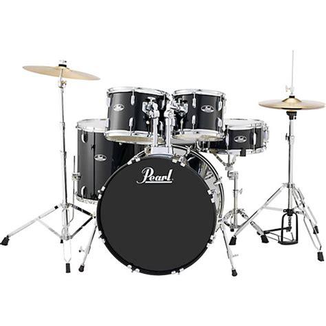 Pearl Roadshow Drum Set 4pcs pearl roadshow 5 new fusion drum set jet black musician s friend
